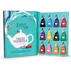 ETS Organic Book style 12 piramids Tea Gift pack Treat yourself